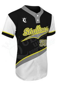 Printed Two-button Jersey - Stallions Style