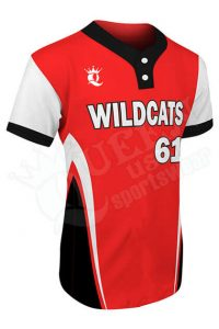 Printed Two-button Jersey - Wildcats Style
