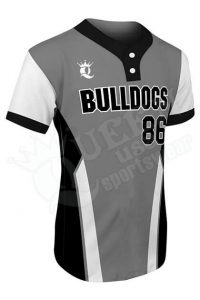 Printed Two-button Jersey - Bulldogs Style