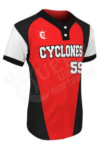 Printed Two-button Jersey - Cyclones Style