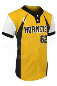 Printed Two-button Jersey - Hornets Style