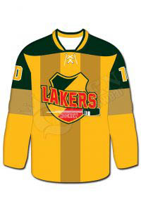 Sublimated Hockey Jersey- Lakers Style