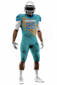 Sublimated Football Jersey – Dolphins Style