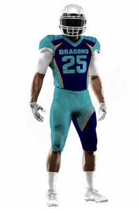 Sublimated Football Jersey – Dragons Style