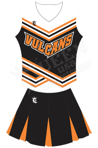 Custom Cheerleading Uniform - Bulldogs Style
