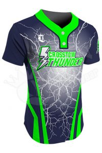 Sublimated Two-Button Jersey - Crosstow Thunder Style