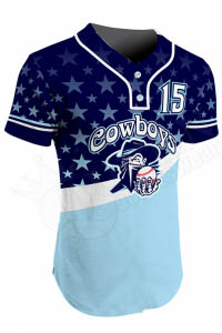 Sublimated Two-Button Jersey - Force Style