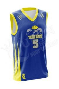 Sublimated Basketball Jersey - Hawk style