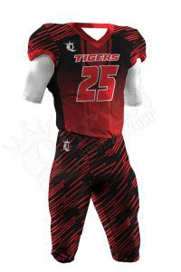 Sublimated Football Uniform – Tigers Style