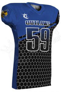 Sublimated Football Jersey – Outlaws Style