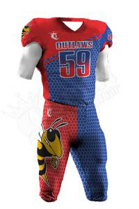 Sublimated Football Uniform – Outlaws Style