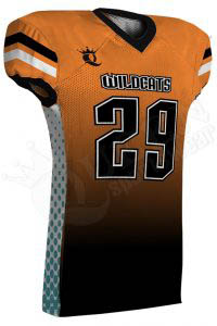 Sublimated Football Jersey – Wildcats Style