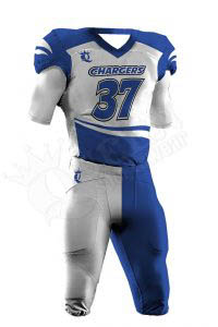 Sublimated Football Uniform – Chargers Style